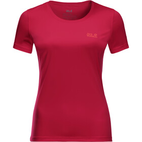 Jack Wolfskin Tech T-shirt Damer, rød